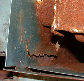 Rusted Heat Exchanger
